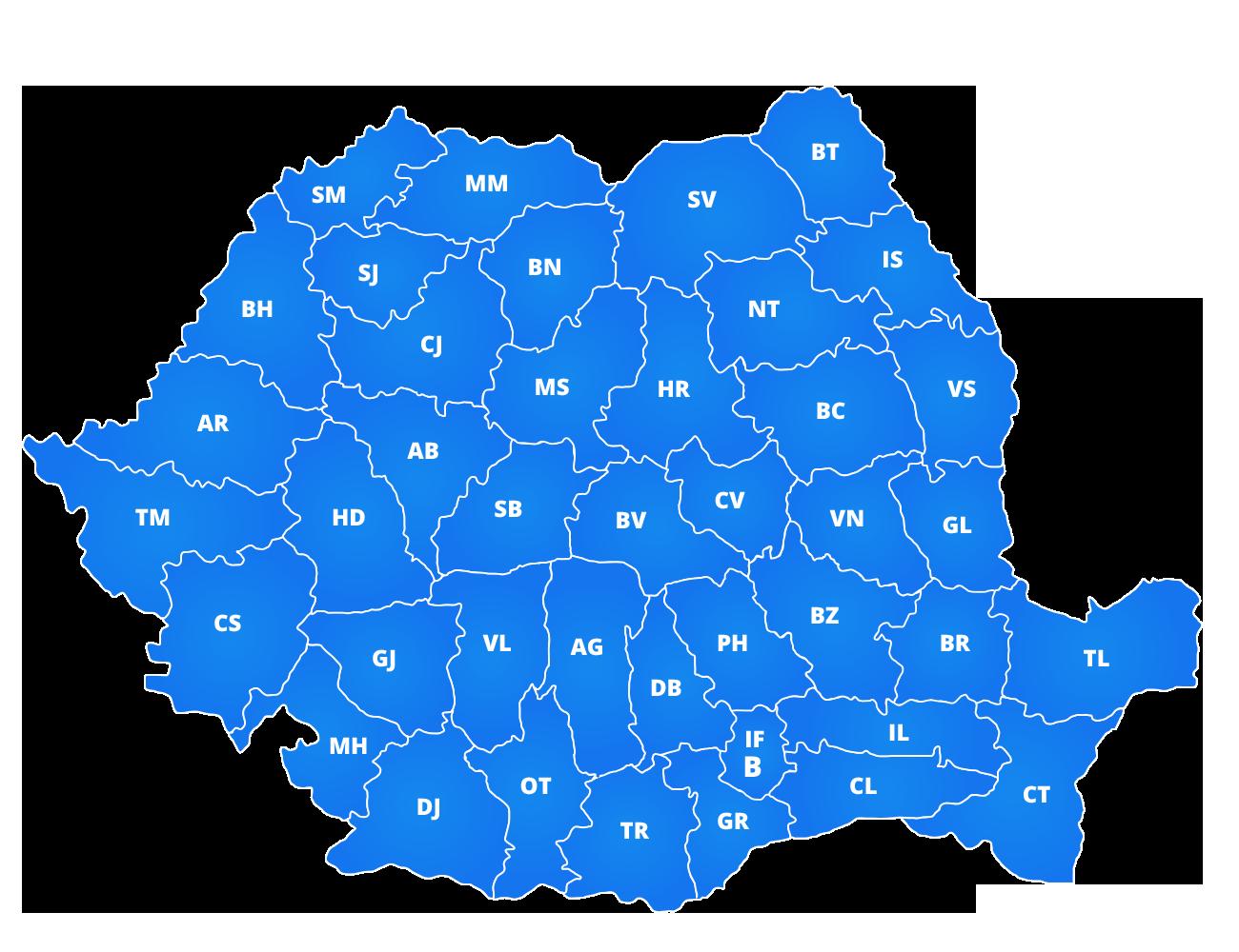 Coduri Postale Harta Judete Romania